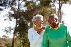 Senior Couple Enjoying Walk Together Royalty Free Stock Image