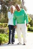 Senior Couple Enjoying Walk Together Stock Photos