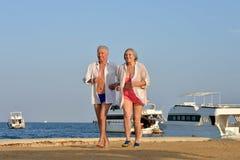 Senior couple exercising Stock Image