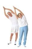 Senior Couple Exercising Royalty Free Stock Image