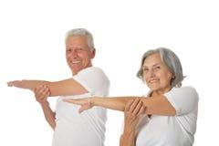 Senior Couple Exercising Royalty Free Stock Images