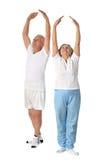 Senior Couple Exercising Stock Images