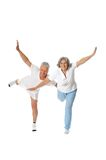 Senior Couple Exercising Stock Image