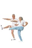 Senior couple exercising Royalty Free Stock Images