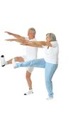 Senior Couple Exercising Stock Photography