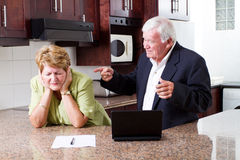 Senior couple fighting Royalty Free Stock Photography