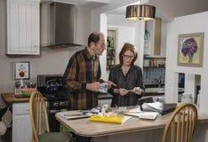 Senior couple with finances Stock Images