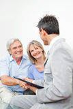 Senior couple with financial royalty free stock photos