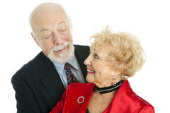 Senior Couple Flirting Royalty Free Stock Photography
