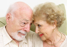 Senior Couple Flirting Stock Image