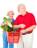 Senior Couple Food Shopping Royalty Free Stock Photos