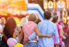Senior couple at the fun fair Stock Photos