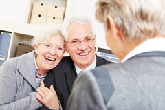 Senior couple getting legal Stock Photo
