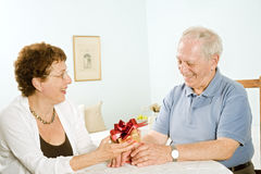 Senior couple gifts Stock Image