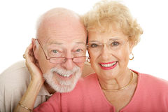 Senior Couple in Glasses Royalty Free Stock Images
