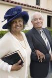 Senior Couple Going to Church on Sunday portrait Stock Photography