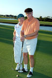 Senior couple golf Stock Images