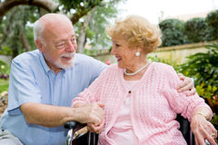 Senior Couple Great Relationship Stock Images