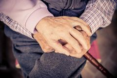 Senior couple hands Stock Image