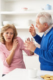 Senior Couple Having Argument At Home Royalty Free Stock Images