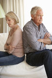 Senior Couple Having Argument At Home Royalty Free Stock Image