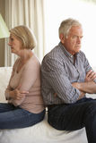 Senior Couple Having Argument At Home Royalty Free Stock Photo