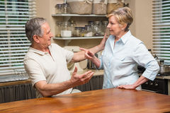 Senior couple having an argument Royalty Free Stock Photo