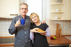 Senior couple having breakfast Royalty Free Stock Image