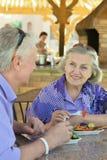 Senior couple having breakfast Royalty Free Stock Photography