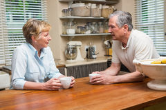 Senior couple having coffee together Stock Photography