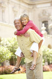Senior Couple Having Fun In City Royalty Free Stock Images