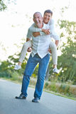 Senior couple having fun in summer Royalty Free Stock Photos