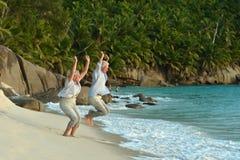 Senior couple having fun Royalty Free Stock Photography