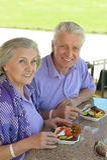 Senior couple having lunch Stock Photography