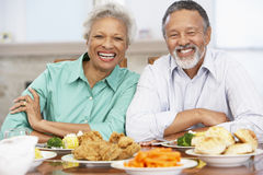 Senior Couple Having Lunch At Home Royalty Free Stock Photography