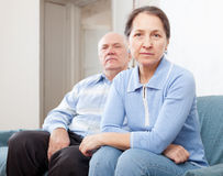Senior couple having problems Stock Photography