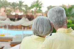 Senior couple having rest at the resort Royalty Free Stock Photo