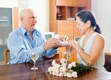 Senior couple having romantic date Stock Photography