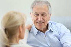 Senior couple having a talk Stock Photography