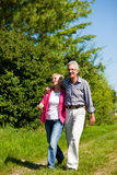 Senior couple having walk Stock Images