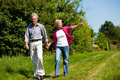 Senior couple having walk Royalty Free Stock Images