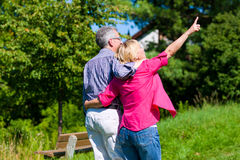 Senior couple having walk Royalty Free Stock Photos