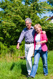 Senior couple having walk Stock Image