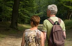 Senior couple hiking -2 Stock Photos