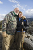Senior Couple Hiking Stock Images