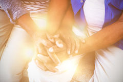 Senior couple holding each others hands Stock Photography