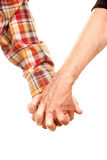 Senior couple holding hands Stock Image