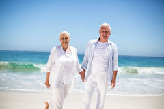 Senior couple holding hands Royalty Free Stock Image