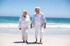 Senior couple holding hands Stock Images