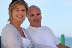 Senior couple in holidays Royalty Free Stock Photo